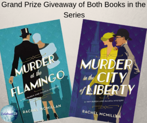 Giveaway for Rachel McMillan, author of Murder in the City of Liberty on tour with Celebrate Lit and featured on CarpeDiem.fyi