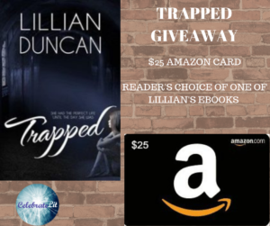 Giveaway for Lillian Duncan, author of Trapped on tour with Celebrate Lit and featured on CarpeDIem.fyi