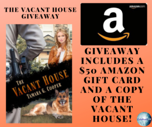 Giveaway for Tamara G. Cooper, author of The Vacant House on tour with Celebrate Lit and featured on CarpeDiem.fyi