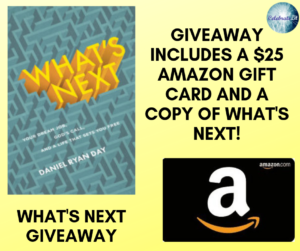 Giveaway for Daniel Ryan Day, author of What's Next on tour with Celebrate Lit and featured on CarpeDiem.fyi