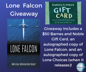 GIveaway for Lone Falcon, on tour with Celebrate Lit and featured on CarpeDiem.fyi