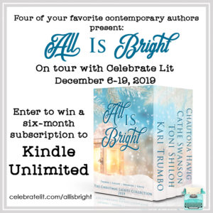 Giveaway for authors of All is Bright, on tour with Celebrate Lit and featured on CarpeDiem.fyi
