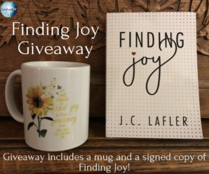 Giveaway for J C Lafler, author of Finding Joy on tour with Celebrate Lit and featured on CarpeDiem.fyi