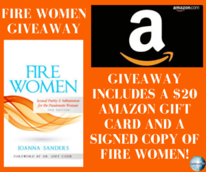 Joanna Sanders, author of Fire Women on tour with Celebrate Lit and featured on CarpeDiem.fyi