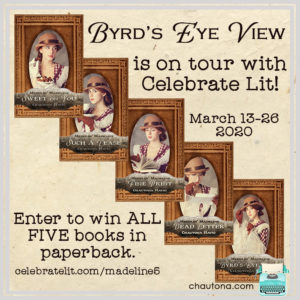 Giveaway for Chautona Havig, author of Byrd's Eye View on tour with Celebrate Lit and featured on CarpeDiem.fyi