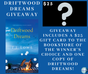 Giveaway for T.I. Lowe, author of Driftwood Dreams on tour with Celebrate Lit and featured on CarpeDiem.fyi