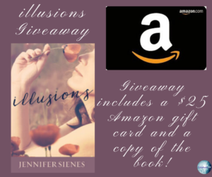 Giveaway for Jennifer Sienes, author of Illusions on tour with Celebrate Lit and featured on CarpeDiem.fyi