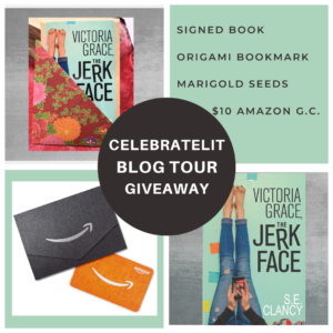 Giveaway for Victoria Grace: the Jerkface on tour with Celebrate Lit and featured on CarpeDiem.fyi