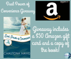 Give away for Chautona Havig, author of Dual Power of Convenience on tour with Celebrate Lit and featured on CarpeDiem.fyi