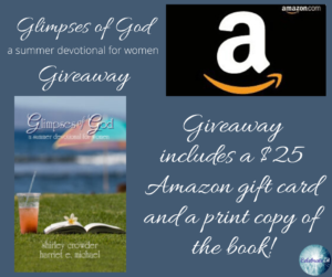 Giveaway for Glimpses of God in Summer on tour with Celebrate Lit and featured on CarpeDiem.fyi