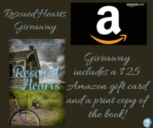 Giveaway for Hope Daugherty, author of Rescued Hearts on tour with Celebrate Lit and featured on CarpeDiem.fyi