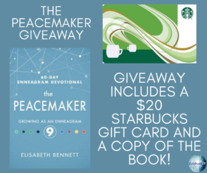 Giveaway for Elisabeth Bennet, author of The Peacemaker on tour with Celebrate Lit and featured on CarpeDiem.fyi