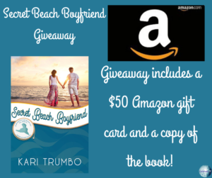 Giveaway for Kari Trumbo, author of Secret Beach Boyfriend on tour with Celebrate Lit and featured on CarpeDiem.fyi