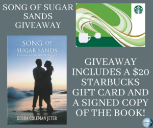 GiveAway for Debra Coleman Jeter, author of Song of Sugar Sands on tour with Celebrate Lit and featured on CarpeDiem.fyi