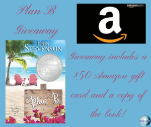 Giveaway for Erin Stevenson, author of Plan B on tour with Celebrate Lit and featured on CarpeDiem.fyi