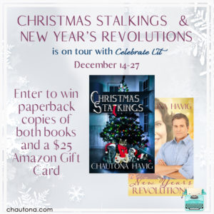 GiveAway for Chautona Havig, author of Christmas Stalkings & New Year's Revolutions on tour with Celebrate Lit and featured on CarpeDiem.fyi