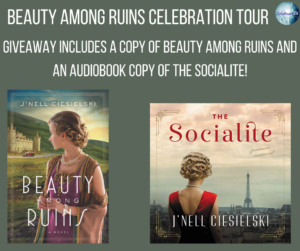 Giveaway for J'Nell Ciesielski, author of Beauty Among Ruins on tour with Celebrate Lit and featured on CarpeDiem.fyi