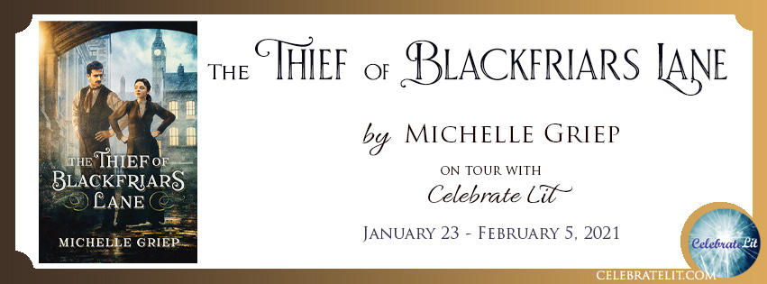 The Thief of Blackfriars Lane on tour with Celebrate Lit and featured on CarpeDiem.fyi