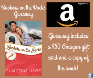 Give away for Chautona Havig, author of Bookers on the Rocks on tour with Celebrate Lit and featured on CarpeDiem.fyi