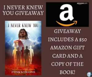 Give away for Patrick Higgins, author of I Never Knew You on tour with Celebrate Lit and featured on CarpeDiem.fyi