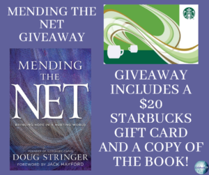 Giveaway for Doug Stringer, author of Mending the Net on tour with Celebrate Lit and featured on CarpeDiem.fyi