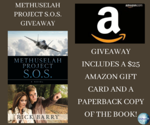 Give Away for Rick Barry, author of Methuselah Project S.O.S. on tour with Celebrate Lit and featured on CarpeDIem.fyi