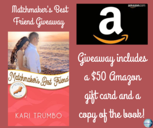 Giveaway for Kari Trumbo, author of Matchmaker's Best Friend on tour with Celebrate Lit and featured on CarpeDiem.fyi