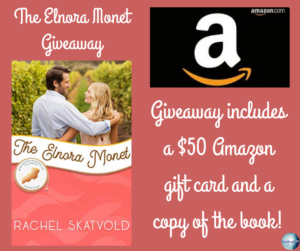 Give away for Rachel Skatvold, author of The Elnora Monet on tour with Celebrate Lit and featured on CarpeDiem.fyi