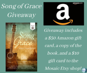 Giveaway for the authors of Song of Grace on tour with Celebrate Lit and featured on CarpeDiem.fyi