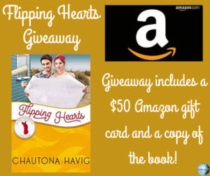 Giveaway for Chautona Havig, author of Flipping Hearts on tour with Celebrate Lit and featured on CarpeDiem.fyi.
