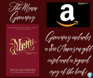 Giveaway for Steven Manchester, author of The Menu, on tour with Celebrate Lit and featured on CarpeDiem.fyi.