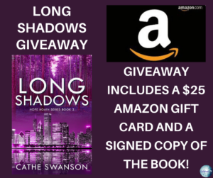 Give away for Cathe Swanson, author of Long Shadows on tour with Celebrate Lit and featured on CarpeDiem.fyi