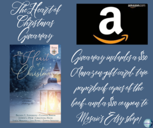 Give away for the author of the Heart of Christmas on tour with Celebrate Lit