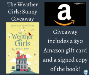 Give away for Jennifer Lynn Cary, author of The Weather Girls: Sunny on tour with Celebrate Lit and featured on CarpeDiem.fyi